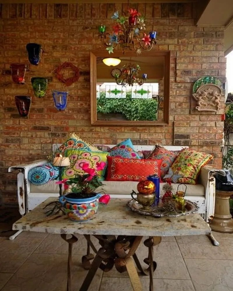 10 Charming Bohemian Patio Design Ideas - https ... on Beautiful Patio Designs id=37751