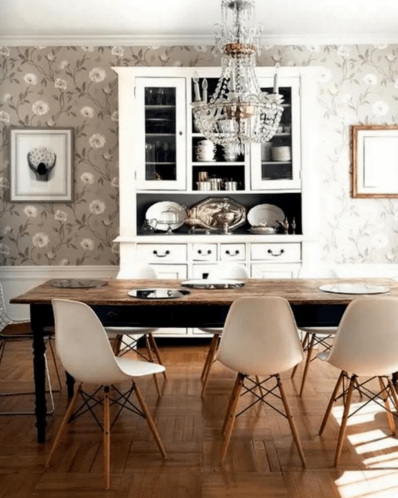 Eiffel chair living room - Soft Beige Eames Eiffel Chairs