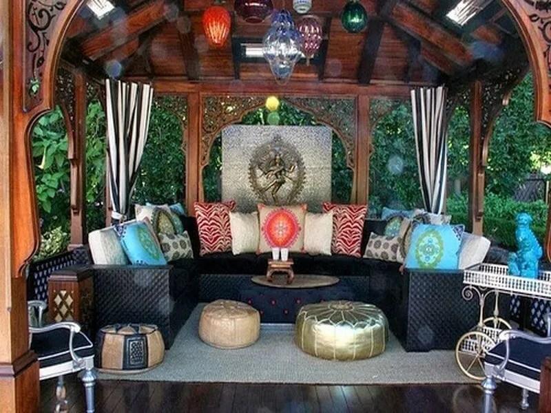 10 Charming Bohemian Patio Design Ideas - https ... on Chic Patio Ideas id=99706