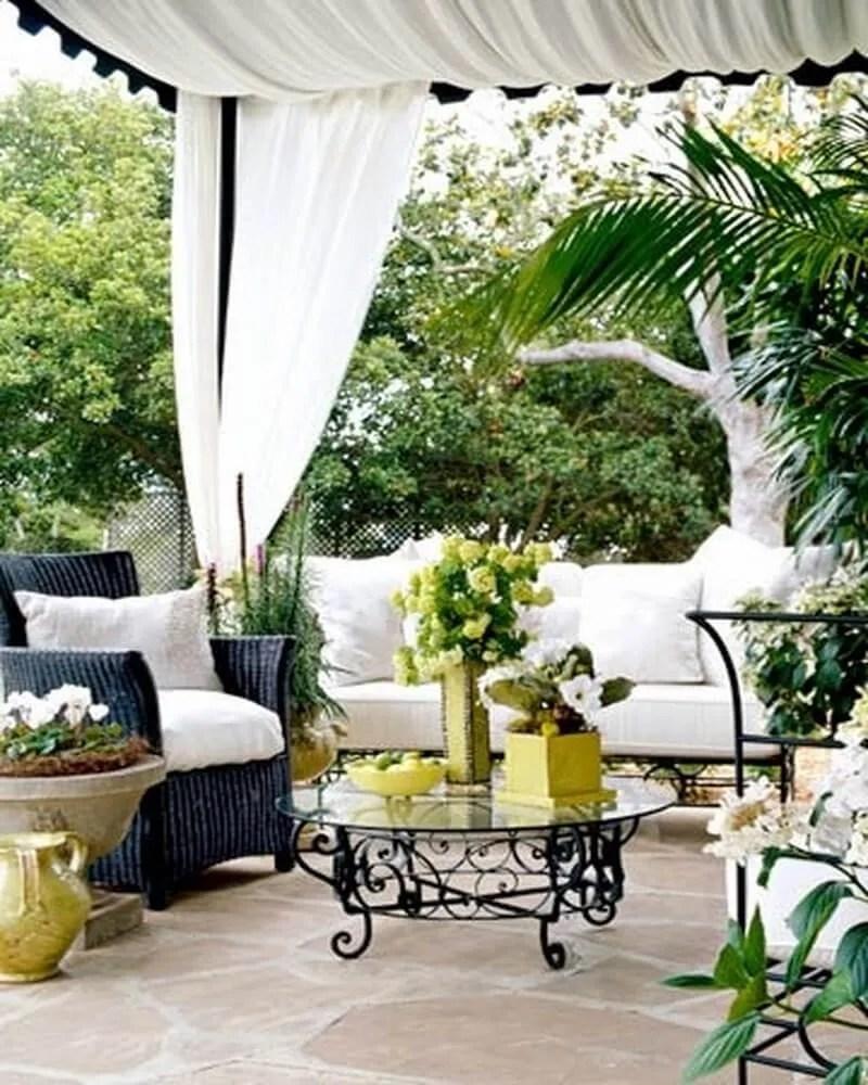 10 Gorgeous Black and White Patio Design Ideas - https ... on White Patio Ideas id=79644