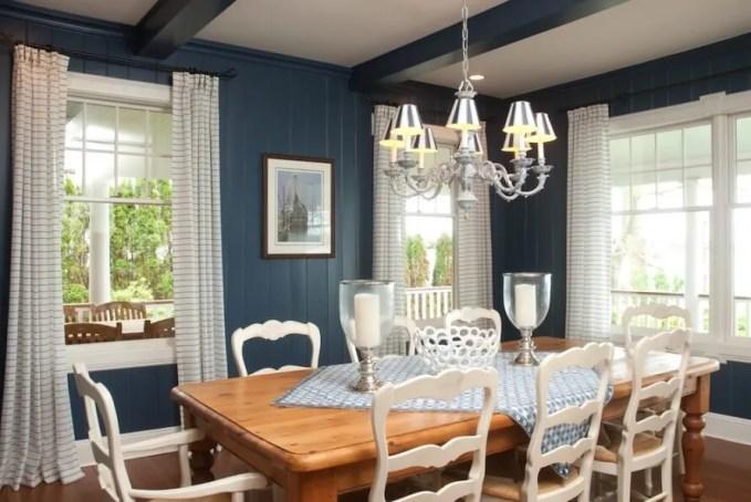 Beautiful Blue Dining Room