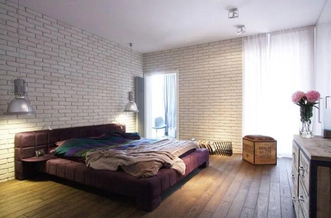 Brick Walls Industrial Bedroom