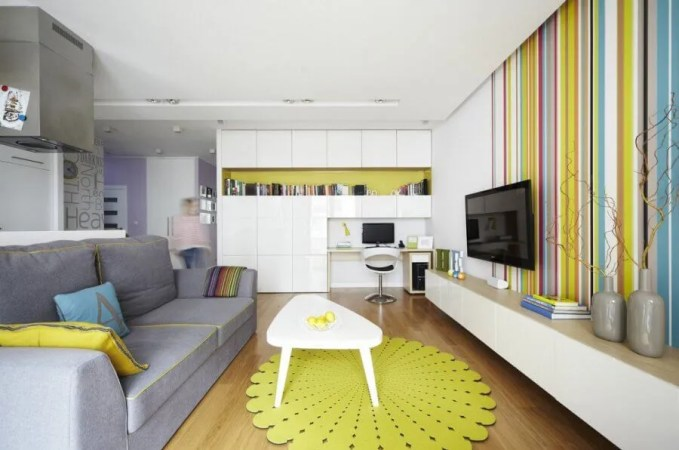 Colorful Striped Living Room