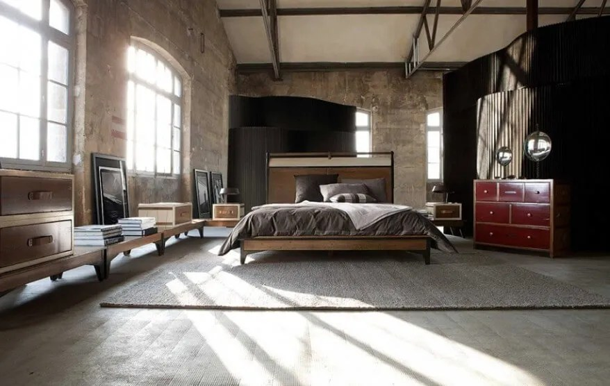 10 bold industrial bedroom interior design idea - https