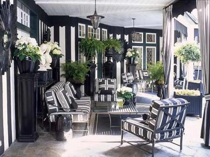 10 Gorgeous Black and White Patio Design Ideas - Interior Idea on White Patio Ideas id=74979