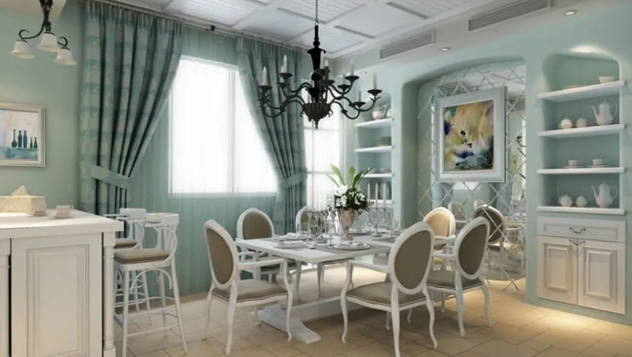 Blue And White Dining Room Ideas Part - 32: Elegant Blue Dining Room