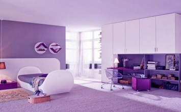 10 Lovely Violet Girl's Bedroom Interior Design Ideas