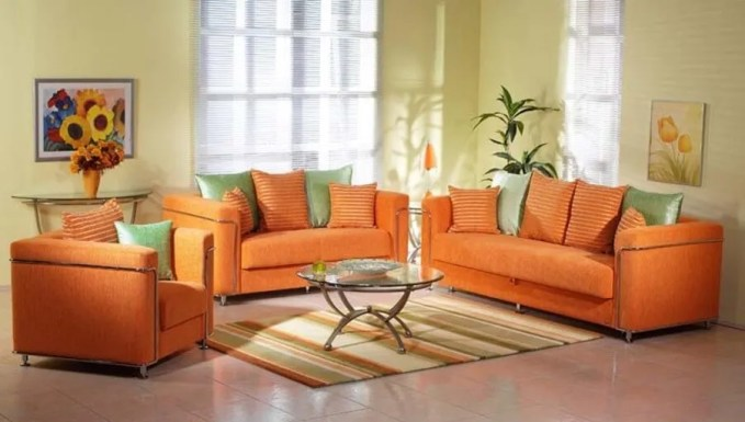 Fresh Orange Livign Room