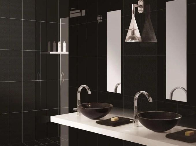 Sleek Black Bathroom