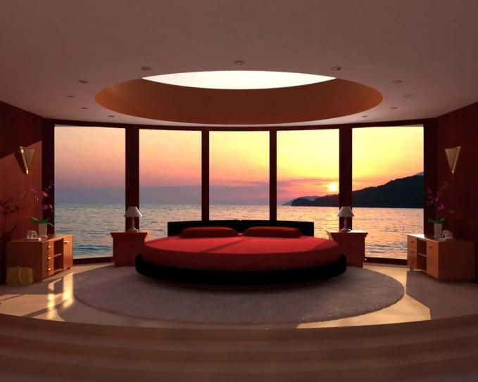 Ultra Modern Red Bedroom