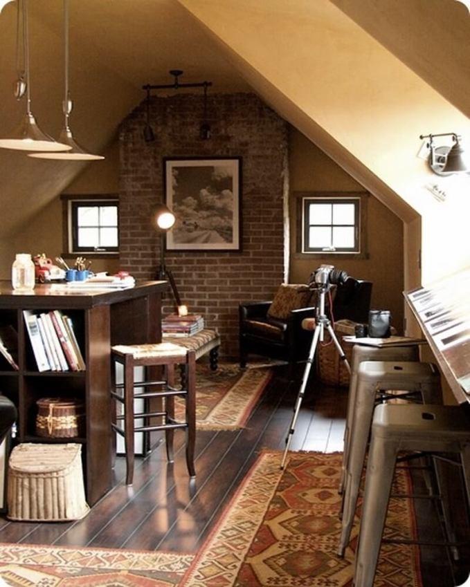 attic home office