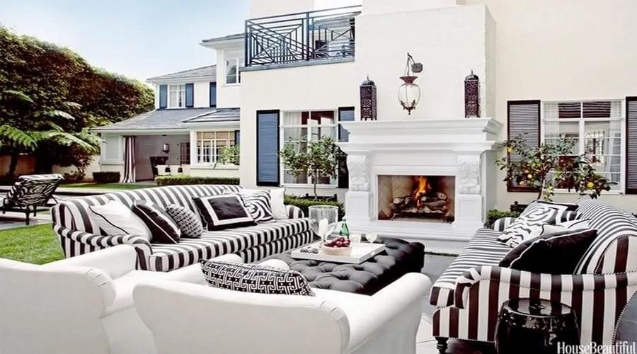 10 Gorgeous Black and White Patio Design Ideas - Interior Idea on Black And White Backyard Decor  id=58627