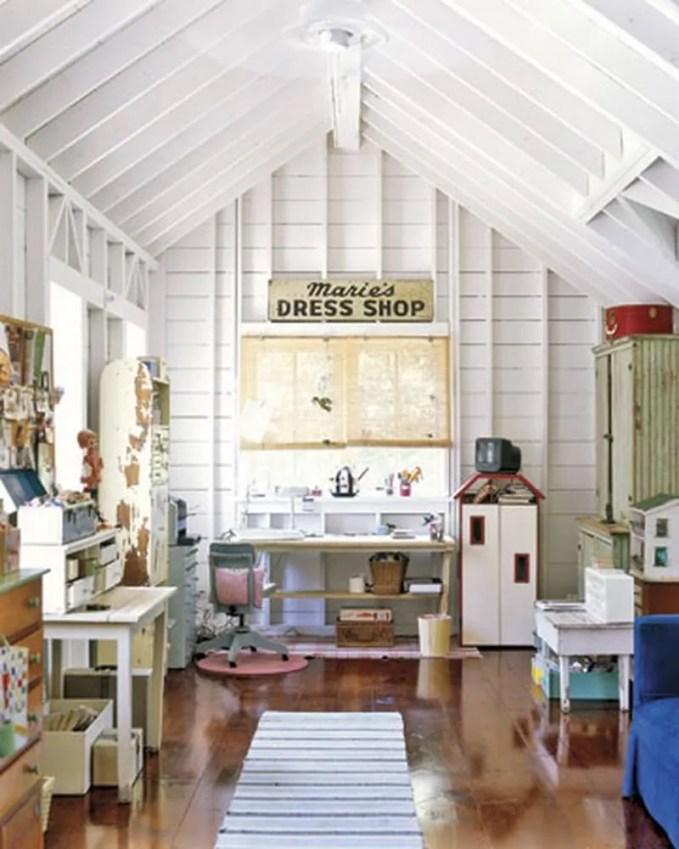 perky attic home office