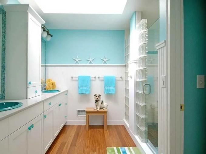 Blue Beach Inspired Bathroom