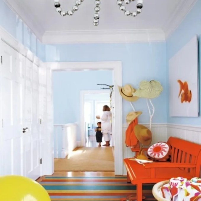 Colorful-Beach-House-Inspired-Hallway