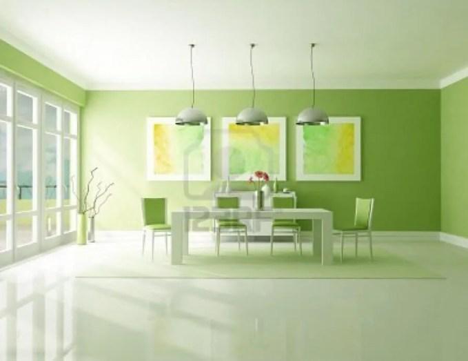 Sleek Green Dining Room