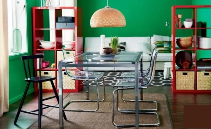 Green Ikea Dining Room