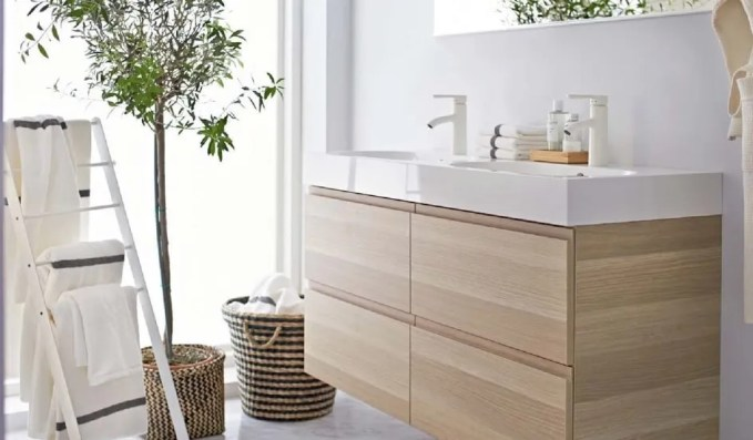 Natural Ikea Bathroom