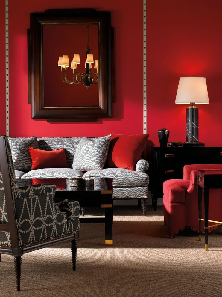 Turn your living room into a lovely space that's relaxing yet functional by selecting the right lighting. Best 11 Marvelous Red Living Room Design Ideas - Interior Idea