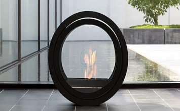 7 Gorgeous Glass Fireplaces for the Living Room