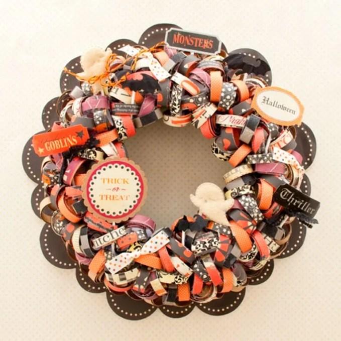 Swirl Halloween Wreath