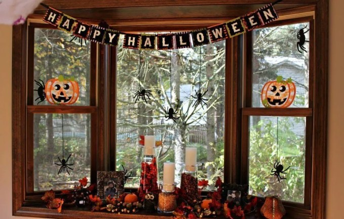 How to create halloween ambiance in the living room 7 for Ambiance decoration