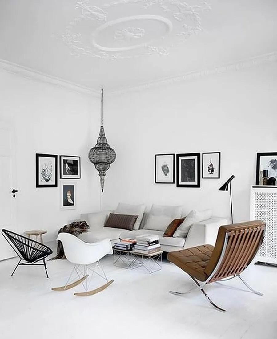 Scandinavian Interior Apartment With Mix Of Gray Tones: 9 Superb Stylish Scandinavian Living Room Designs