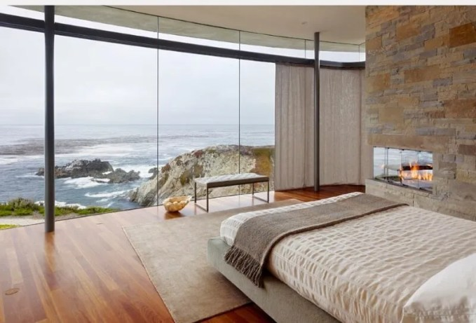 Bedroom with a seaside view