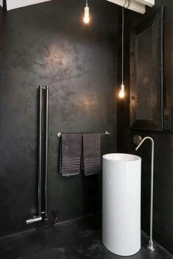 Black Indsutrial Bathroom
