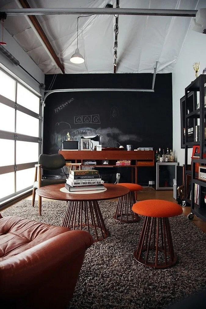 Blend of Industrial and Modern Home office
