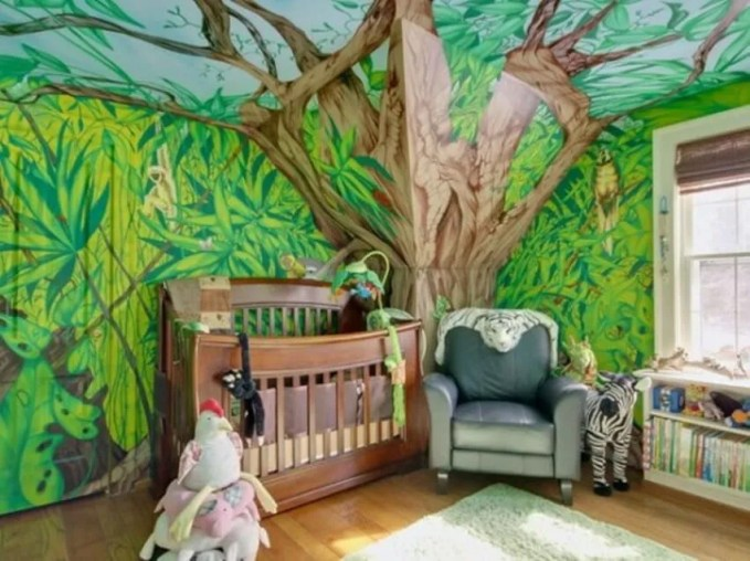 Cool Jungle Inspired Kid's Bedroom
