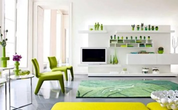 11 Green and White Living Room Design Ideas