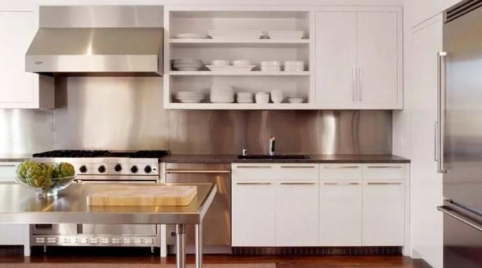 Minimalist Kitchen With Open Shelving