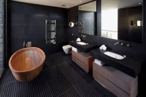 Natural Wooden Bathtub
