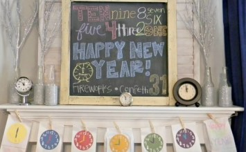 8 Creative New Year Decorations for Fireplace Mantel