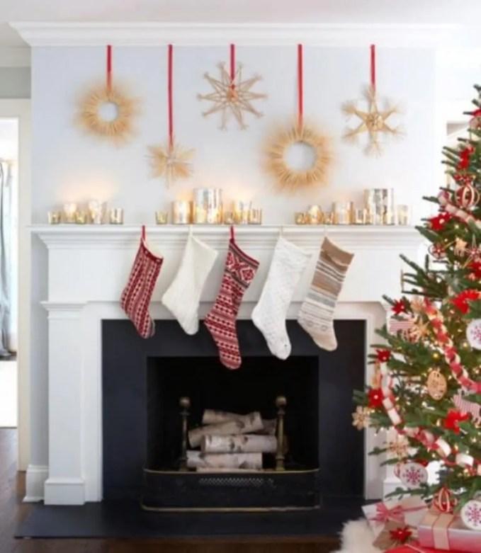 Cool Christmas Fireplace Mantel