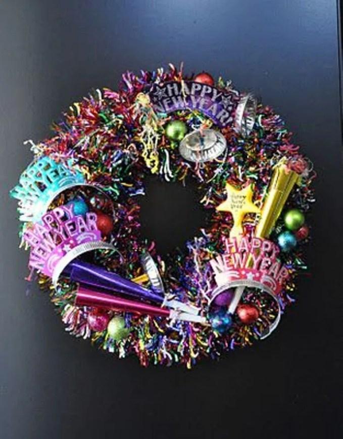 Festive New Year Wreath