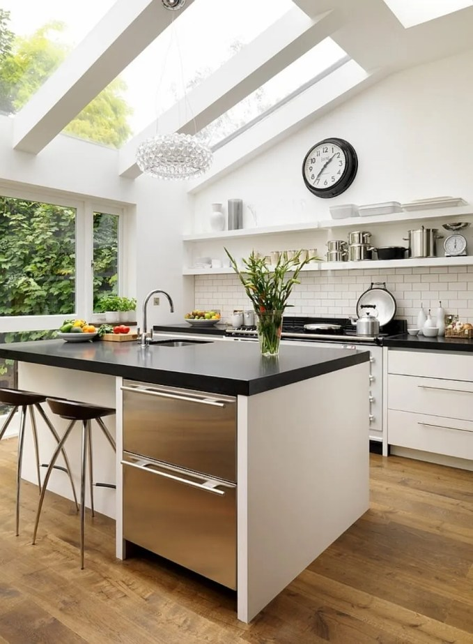 Amazing Kitchen with Skylights