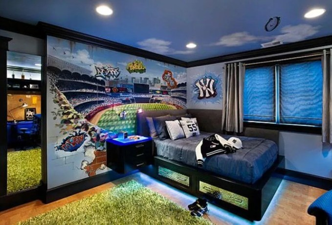 Baseball Teen's Boy Bedroom