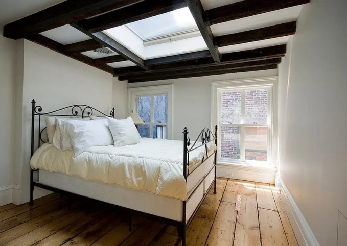 Bold Bedroom with Skylights