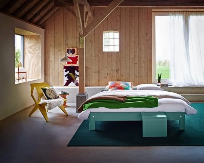 Breezy Bedroom with Wood Paneling