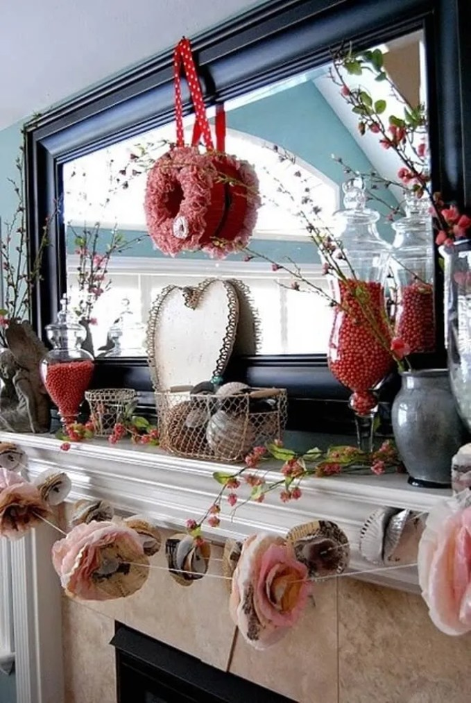 Charming Valentine's Mantel Decoration