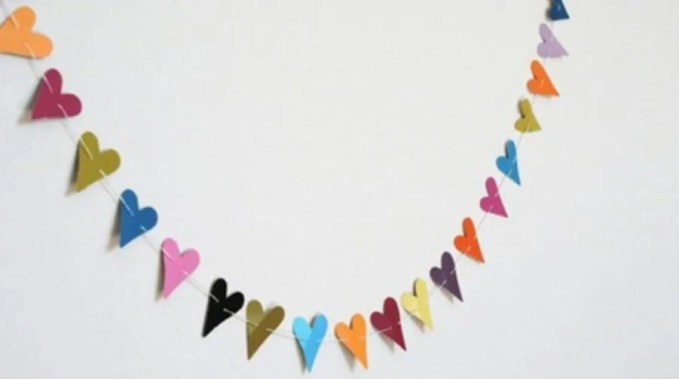 Colorful Heart Garland