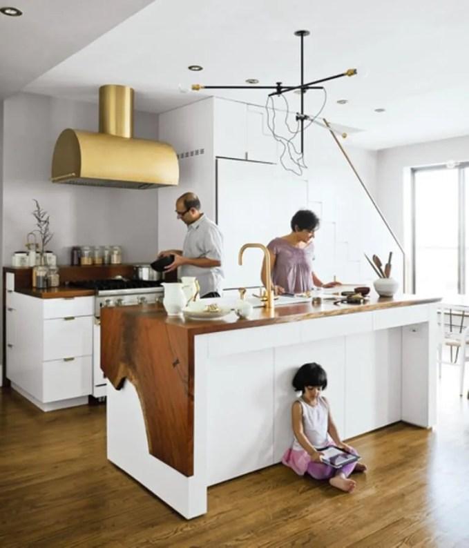 Contemporary Brass Kitchen