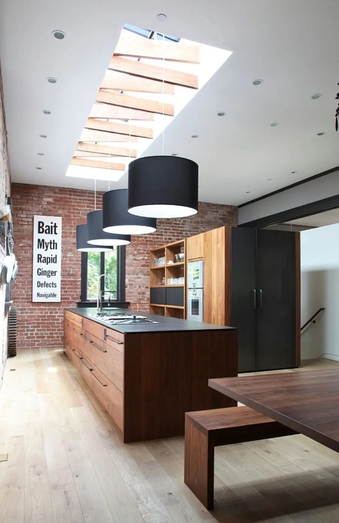 Cool Kitchen with Skylights