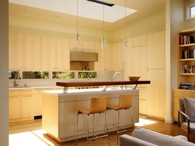 Cozy Kitchen with Skylights