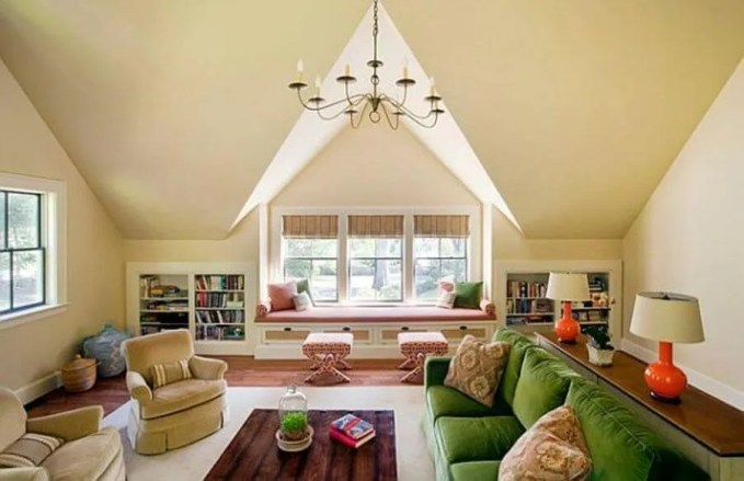 Homey Attic Living Room