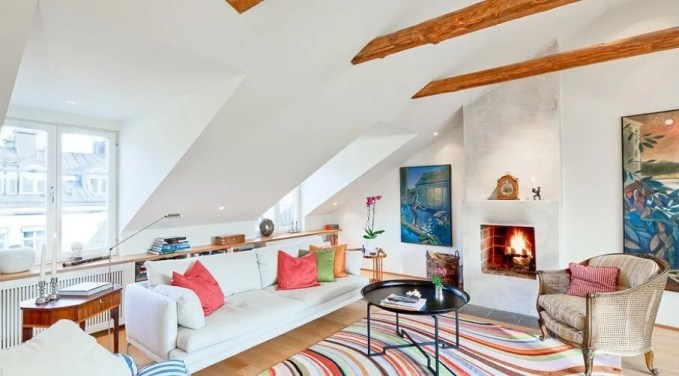 Lively Attic Living Room