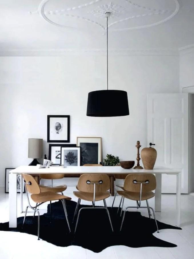 Minimalist High Contrast Dining Room