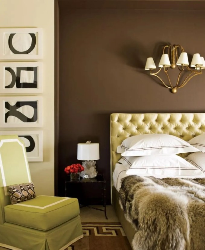 Opulent Bedroom with Faux Fur Bedding